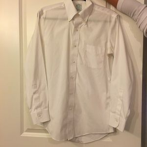 Brooks Brothers White Slimfit Button Down